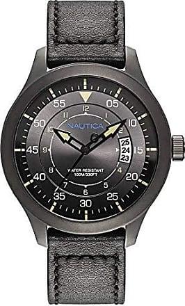 Nautica Relógio Nautica Masculino Couro Preto - NAPPLP905