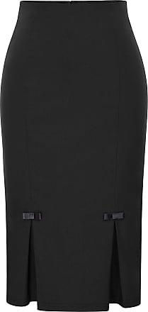 Belle Poque Womens Pure Color Pencil Skirts Empire Line Black(587-1) X-Large