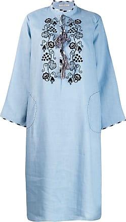 Vita Kin Vestido com bordado no busto - Azul