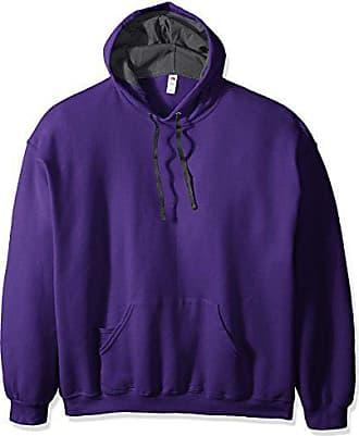 Fruit Of The Loom Mens Hooded Sweatshirt,Purple,XXX-Large