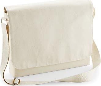 Westford Mill Fairtrade Cotton Messenger Bag (Large) (Natural)