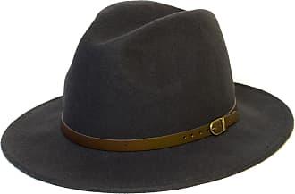 Hat To Socks Wool Fedora Felt Trilby Hat (57 cm, Dark Grey)