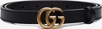 Gucci Womens Black Marmont Logo Leather Belt
