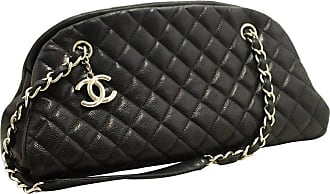 53180d4c2c34 CHANEL BOUTIQUE Chanel Caviar Bowling Chain Black Quilted Leather Sv Shoulder  Bag