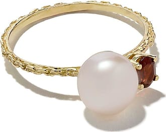 Wouters & Hendrix 18kt yellow gold Pearl & Garnet ring