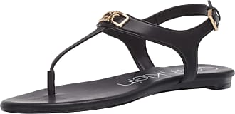 Calvin Klein Womens SHAMARY Flat Sandal, Black, 5.5 UK
