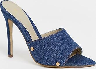 Missguided denim mules-Blue