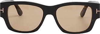 Tom Ford Eyewear Óculos de Sol Retangular Preto - Mulher - 54 US