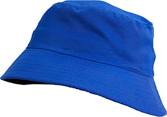 4sold Men Women Adults Bucket Hat Summer Fishing Fisher Beach Festival Sun Cap (Royal Blue)