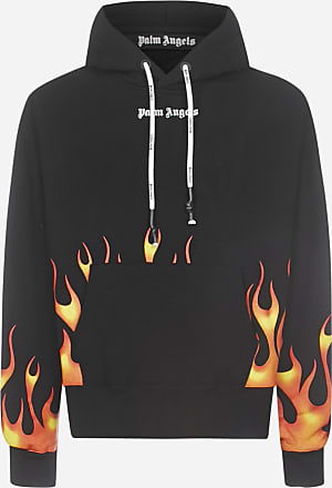 Palm Angels Felpa Firestarter in cotone con cappuccio - PALM ANGELS - uomo