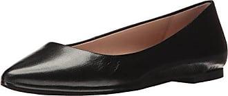 BCBGeneration Womens Millie Ballet Flat, Black Leather, 8