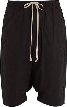 Rick Owens Dropped-crotch Cotton Shorts - Mens - Black