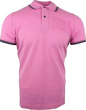 Cerruti 1881 Mens Cotton Polo Shirt with Short Sleeves and Border - Pink - XX-Large