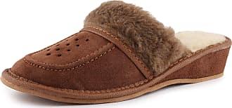 Ladeheid Womens Slippers House Shoes LAFA009 (Brown-2, 39 EU = 6 UK)