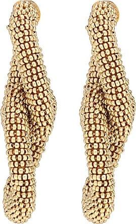 Oscar De La Renta Beaded interlocking earrings
