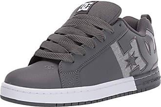 d16487519a19 DC Mens Court Graffik SQ Skate Shoe Pewter 9 M US