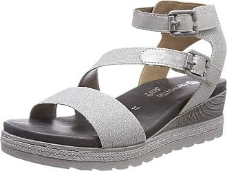 Remonte Womens D6351 Sling Back Sandals, Silver (Silber/Silber 92), 7.5 UK