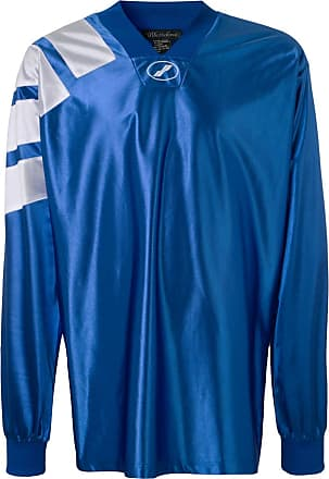 We11done Blusa oversized de jersey - Azul