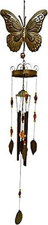 Great World Company StealStreet 310204 Butterfly Design Wind Chime with Hanging Multipiece Metal Leaf Dangle