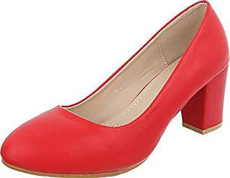 3bad8c32a4d2 Ital-Design Klassische Pumps Damen-Schuhe Klassische Pumps Pump Klassische  Pumps Rot, Gr