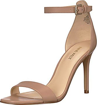 Nine West Womens MANA Sandal, Light Natural Leather, 10.5 M US