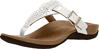Womens Vionic Ricci Toe Post Orthotic Arch Support Flip Flops Sandals Brown