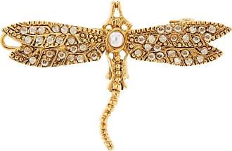 Oscar De La Renta Dragonfly barrette hair clip - GOLD