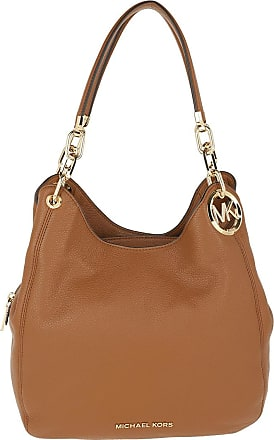 Michael Kors Tote - Lillie Large Chain Shoulder Tote Bag Luggage - cognac - Tote for ladies