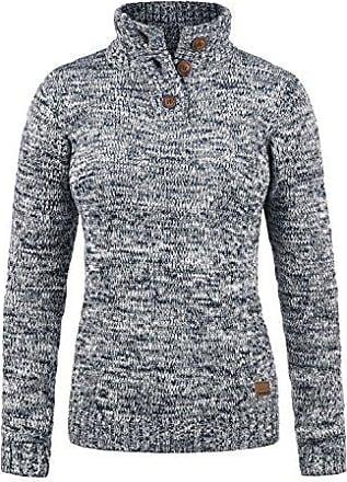 7ff9860954916d Desires Philicita Damen Winter Strickpullover Troyer Grobstrick Pullover  mit Stehkragen, Größe:S, Farbe