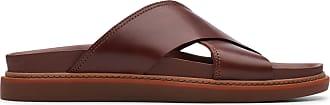 Clarks Mens Sandal Mahogany Leather Clarks Trace Cross Size 10.5