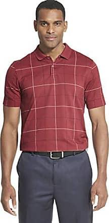 M deep Low Tide Van Heusen Men/'s Printed Short Sleeve Windowpane Polo Shirt