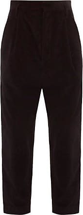 Raey Exaggerated Tapered-leg Corduroy Trousers - Mens - Black