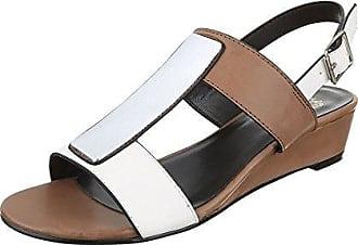 Ital-Design Keilsandaletten Damen-Schuhe Plateau Keilabsatz Wedge Keilabsatz  Schnalle Sandalen Sandaletten ee42f4f2a2