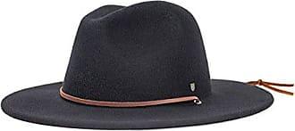 Brixton Mens Field Wide Brim Felt Fedora Hat, black, Small