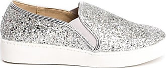 Ikrush Alex Slip On Chunky Glitter Trainers Silver UK 3