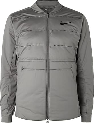 98384b830fd0 Nike Aeroloft Perforated Quilted Jersey Golf Jacket - Light gray