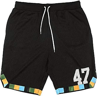 9bef4936b0 LRG Mens Lifted Research Group Basketball Style Sports Shorts, Black L