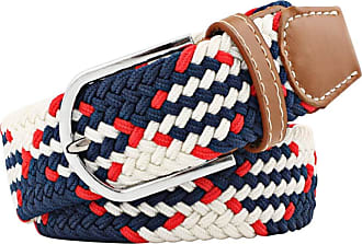 Zhhlaixing Elastic Braided Belt, Woven Belt Stretch Fabric for Junior Unisex Men Women with Leather Buckle,33mm (1.25)