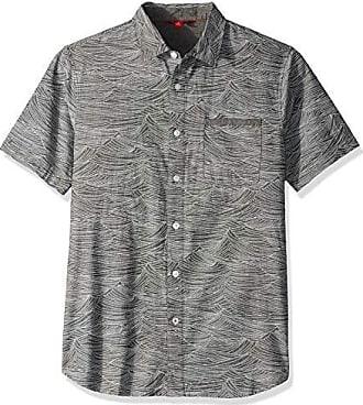 X-Large UNIONBAY Mens Classic Short Sleeve Poplin Button-up Woven Shirt Pool