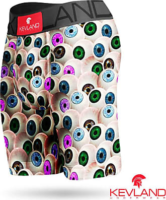 Kevland Underwear Cueca Boxer Long Leg Kevland Hungry Eyes Tamanho:GG;Cor:Cinza
