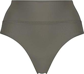 XL Hunkemöller Damen Unterteil Bikini Slip Leather Irio Khaki Grün Größe L