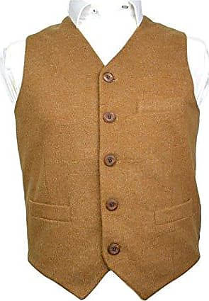 King /& Priory Herren Weste braun Tweed Braun