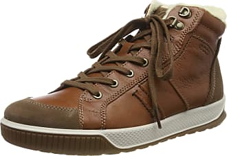Ecco Mens Byway Tred Hi-Top Trainers, Brown (Cocoa Brown/Cognac/Coffee 51673), 8/8.5 UK