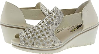 24 Horas 24 Hours 24445 Leather Crab Shoes for Women Size: 4 Color: Hielo