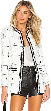 Alice & Olivia Indira Fitted Jacket in White