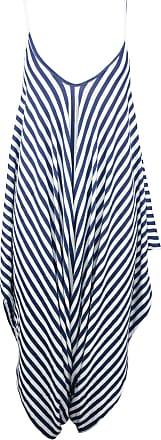 Be Jealous Women Cami Lagenlook Italian Drape Harem Jumpsuit Stripes Navy M/L (UK 12/14)