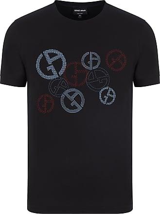 Giorgio Armani Camiseta de Algodão Preta - Homem - Preto - 52 IT