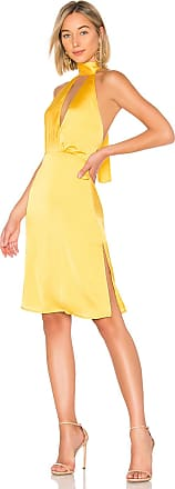 LPA Halter Tie Dress in Yellow