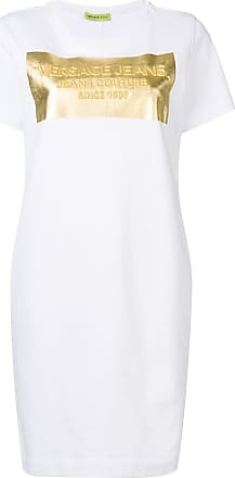 Versace Jeans Couture logo T-shirt dress - White