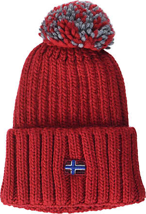 Napapijri Womens Itang Hat Beret, (Pop Red R41), One (Size: D)